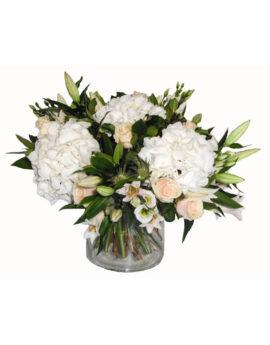 Zacht rose met wit boeket