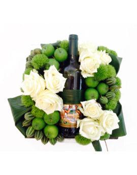 Witte wijn bloemstuk