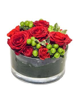 rood bloemstuk - 2 stuks