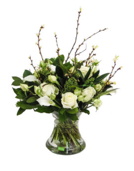 Avalanchespray rozen met witte calla