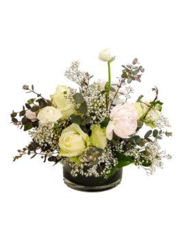 Pioen - rozen bloemstuk