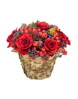 Rode rozen bloemstuk