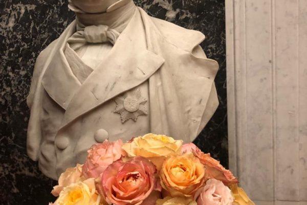 190212 Bloemstuk huldiging koningin Mathilde 6 FlowersRme